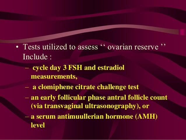 clomiphene citrate challenge test mechanism design