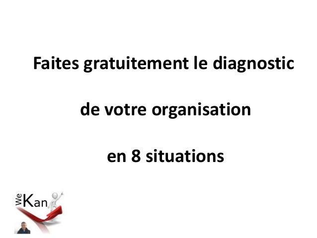 We Kan Faites gratuitement le diagnostic de votre organisation en 8 situations