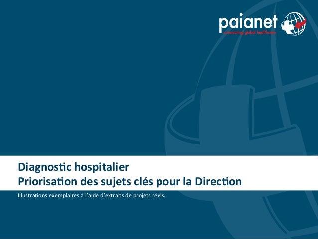 Diagnos(c hospitalier Priorisa(on des sujets clés pour la Direc(on Illustra(ons exemplaires à l'ai...