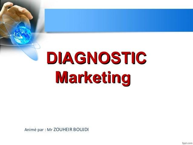 DIAGNOSTICDIAGNOSTIC MarketingMarketing Animé par : Mr ZOUHEIR BOUJDI