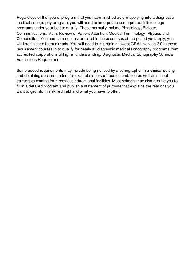 diagnostic medical sonography schools