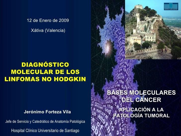 DIAGNÓSTICO MOLECULAR DE LOS LINFOMAS NO HODGKIN Jerónimo Forteza Vila Jefe de Servicio y Catedrático de Anatomía Patológi...