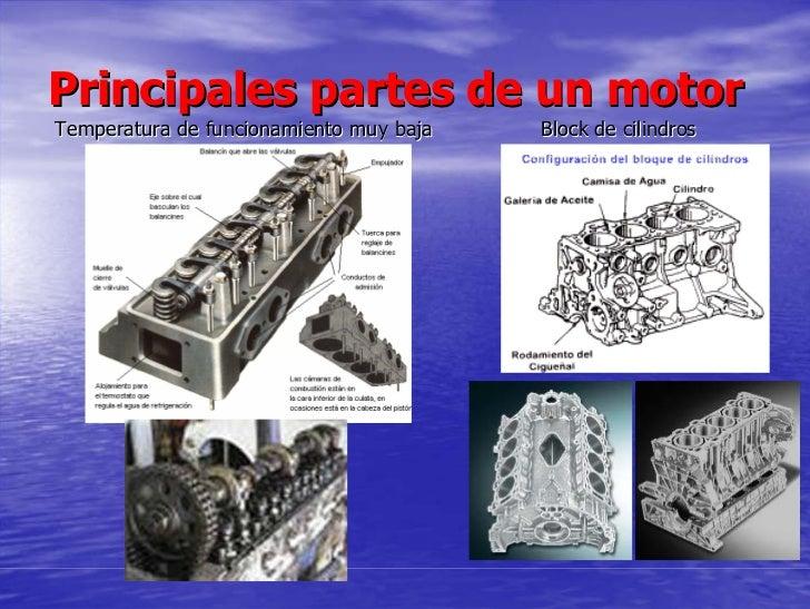 Principales partes de un motor Temperatura de funcionamiento muy baja   Block de cilindros
