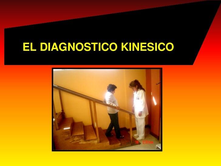 EL DIAGNOSTICO KINESICO