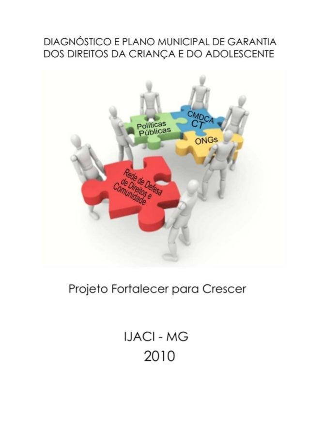 Projeto Fortalecer Para Crescer – Ijaci MG Diagnóstico e Plano Municipal de Garantia dos Direitos da Criança e Adolescente...