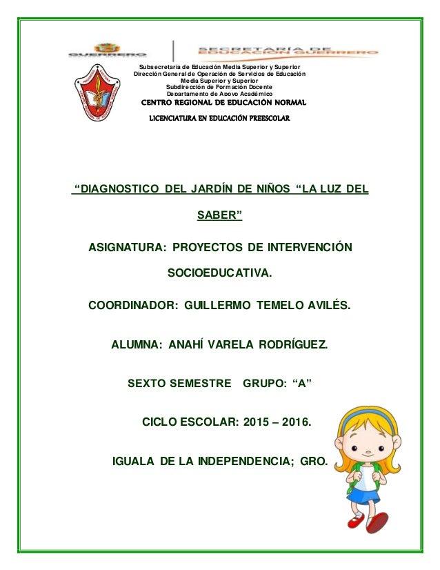 Diagnostico del jardin de niños