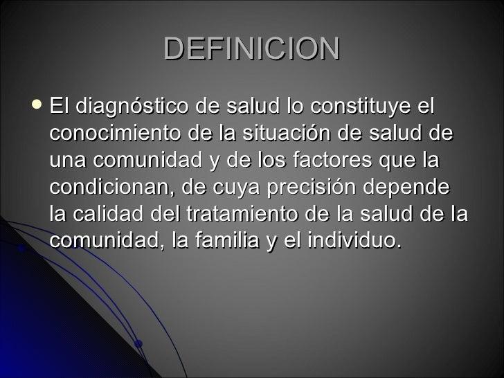 Diagnostico de salud for Origen y definicion de oficina