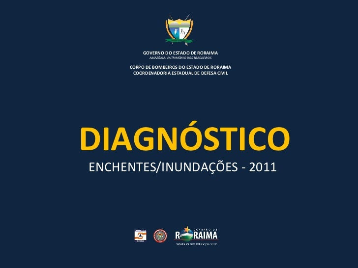 DIAGNÓSTICO ENCHENTES/INUNDAÇÕES - 2011   GOVERNO DO ESTADO DE RORAIMA AMAZÔNIA: PATRIMÔNIO DOS BRASILEIROS CORPO DE BOMBE...