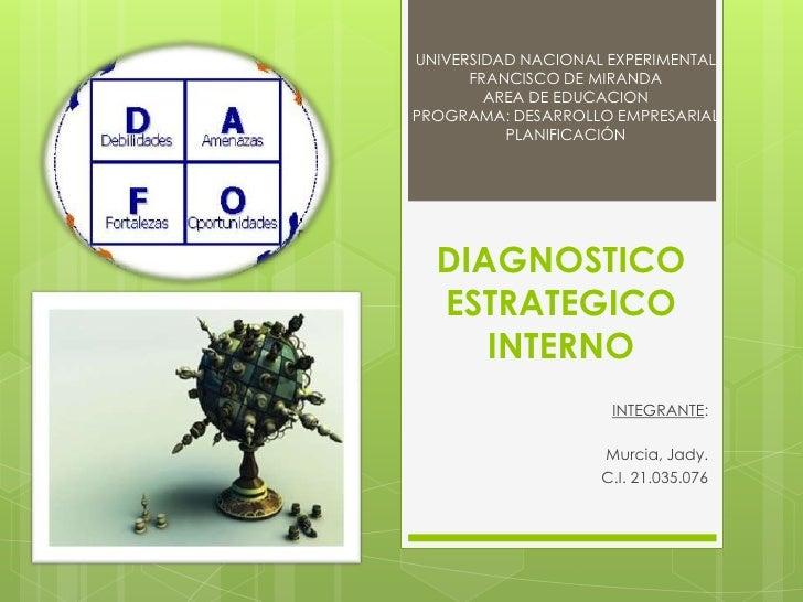 UNIVERSIDAD NACIONAL EXPERIMENTAL      FRANCISCO DE MIRANDA        AREA DE EDUCACIONPROGRAMA: DESARROLLO EMPRESARIAL      ...