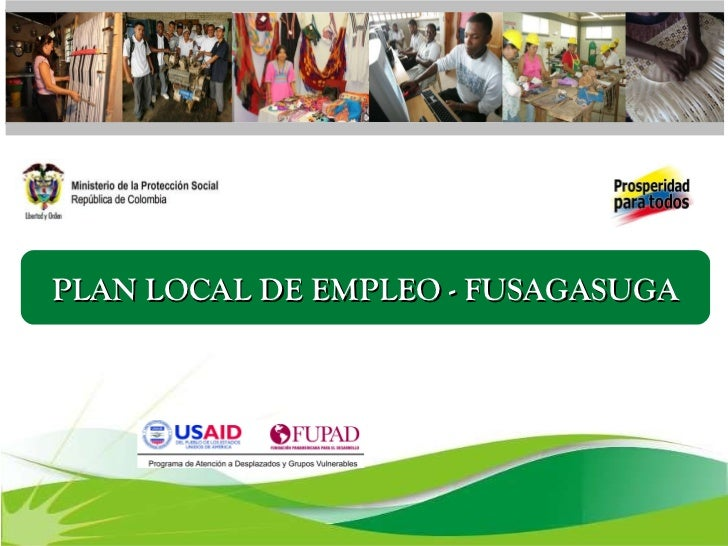 PLAN LOCAL DE EMPLEO - FUSAGASUGA