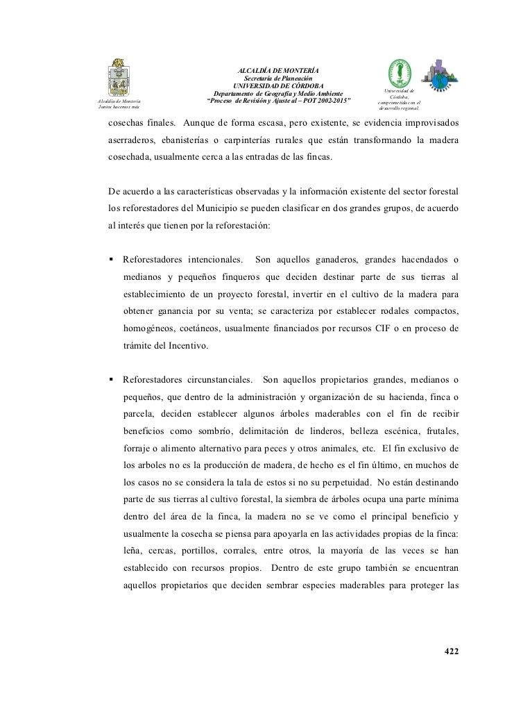 ALCALDÍA DE MO TERÍA                                             Secretaría de Planeación                                 ...