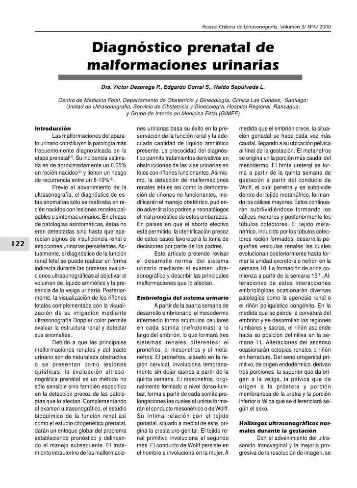 Revista Chilena de Ultrasonografía. Volumen 3/ Nº4/ 2000                                Diagnóstico prenatal de           ...