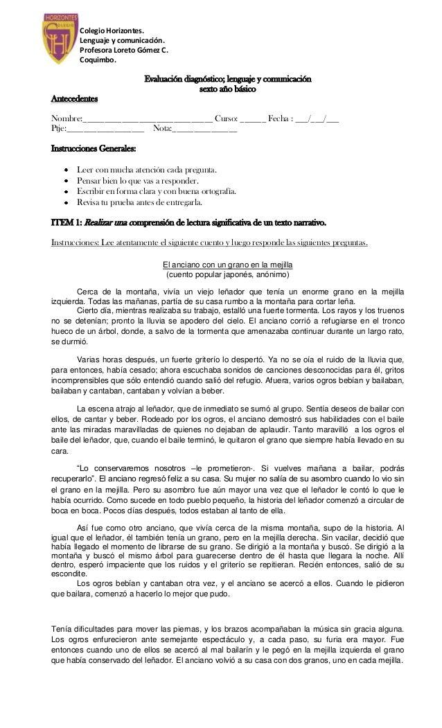 Colegio Horizontes.        Lenguaje y comunicación.        Profesora Loreto Gómez C.        Coquimbo.                     ...