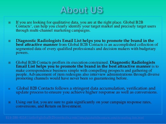 Diagnostic radiologists email list helps you to promote the brand in the best attractive manner Slide 2