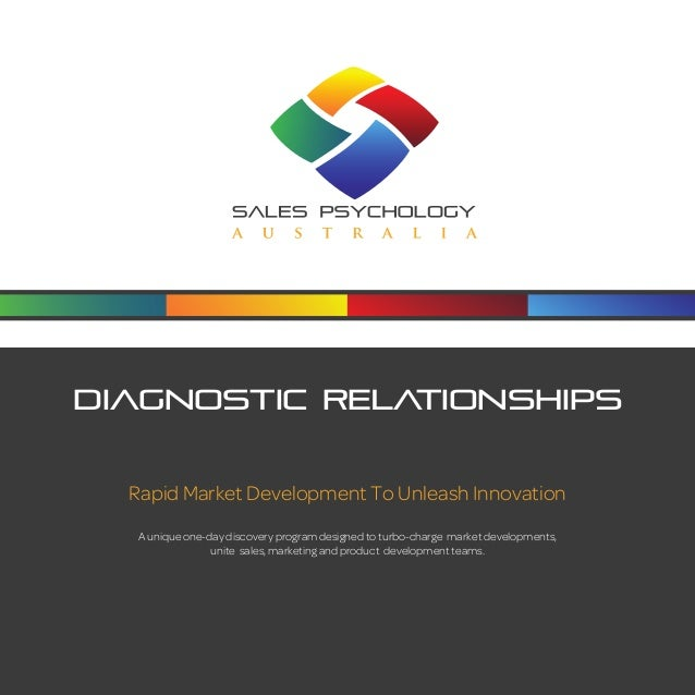 Diagnostic Relationships  Rapid Market Development To Unleash Innovation  A unique one-day discovery program designed to t...