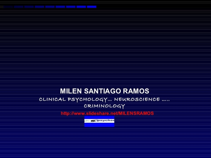 DIAGNOSTICS established tools and  recent advances  ANTISOCIAL PERSONALITY  DISORDER  MILEN SANTIAGO RAMOS CLINICAL PSYCHO...