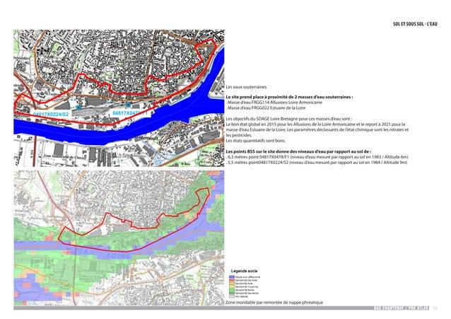 BAS CHANTENAY // PRE ATLAS 51 04817X0224/S2 04817X0478/F1 5Nantes bas Chantenay Zones inondables par remontée de nappe phr...
