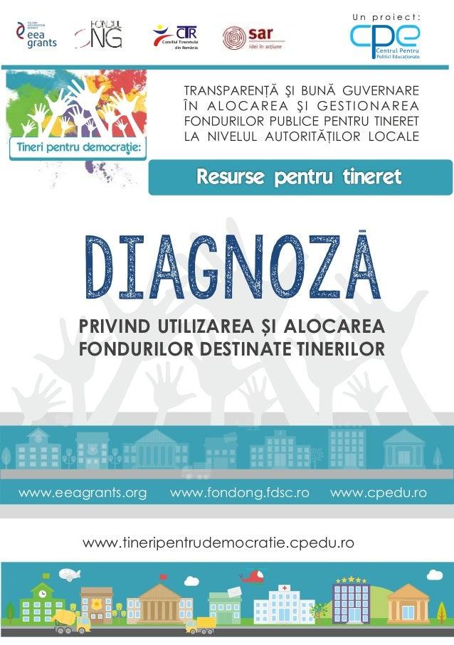 www.tineripentrudemocratie.cpedu.ro Consiliul Tineretului din România diagnozaPRIVIND UTILIZAREA SI ALOCAREA FONDURILOR DE...
