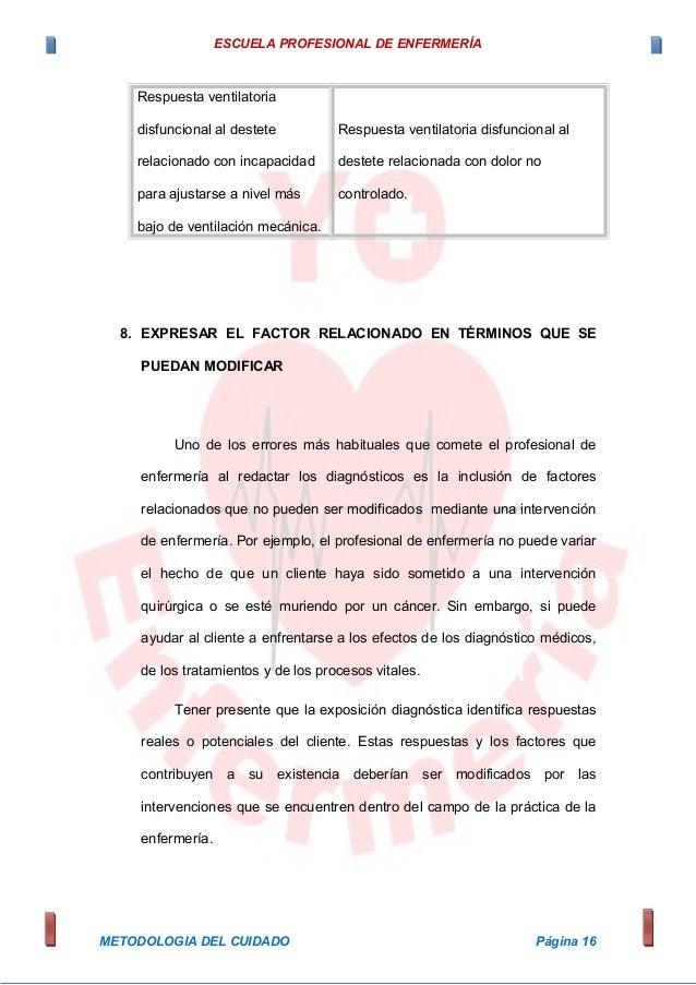 ESCUELA PROFESIONAL DE ENFERMERÍA Respuesta ventilatoria disfuncional al destete relacionado con incapacidad para ajustars...