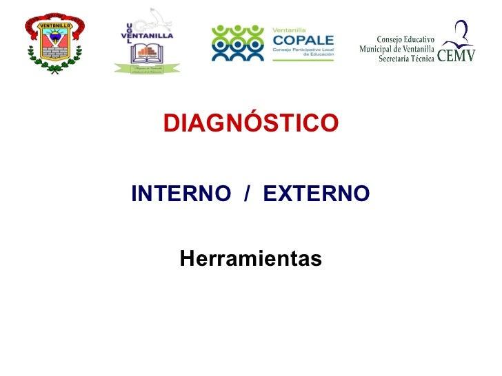 DIAGNÓSTICO INTERNO  /  EXTERNO Herramientas