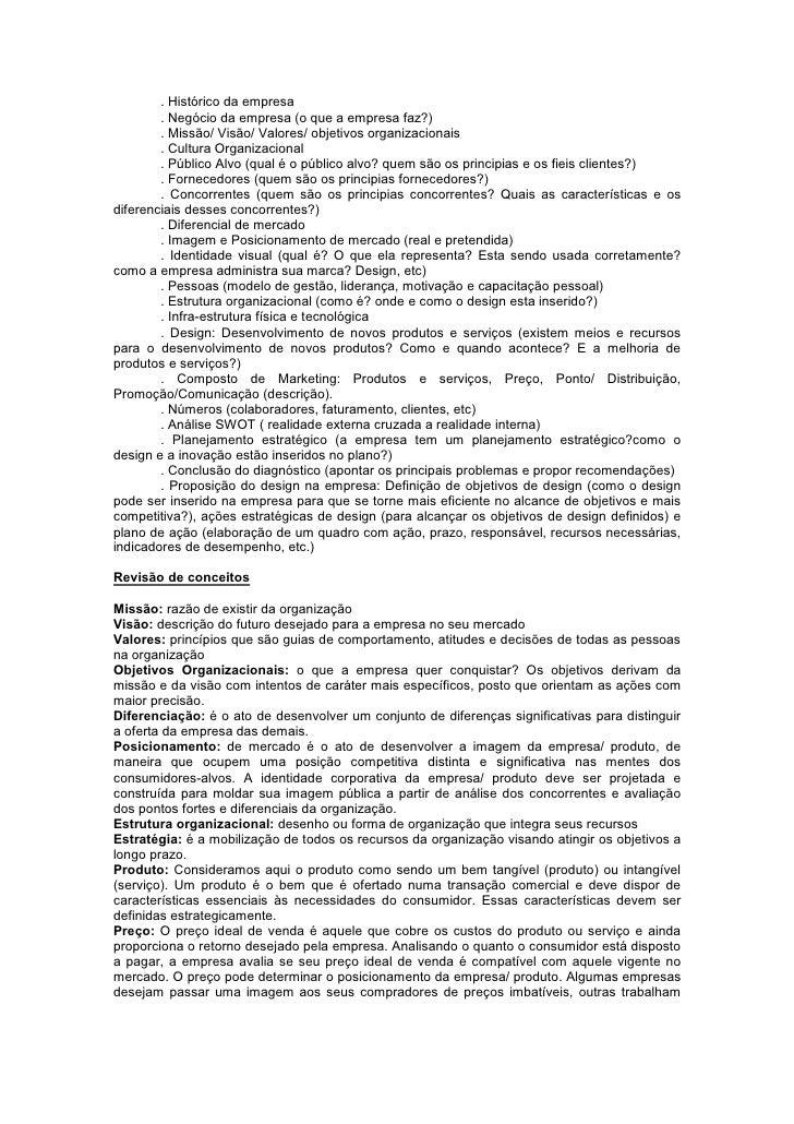 Diagnostico De Design Roteiro De Briefing