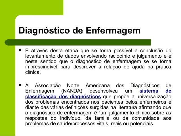 diagnostico de enfermagem nanda para