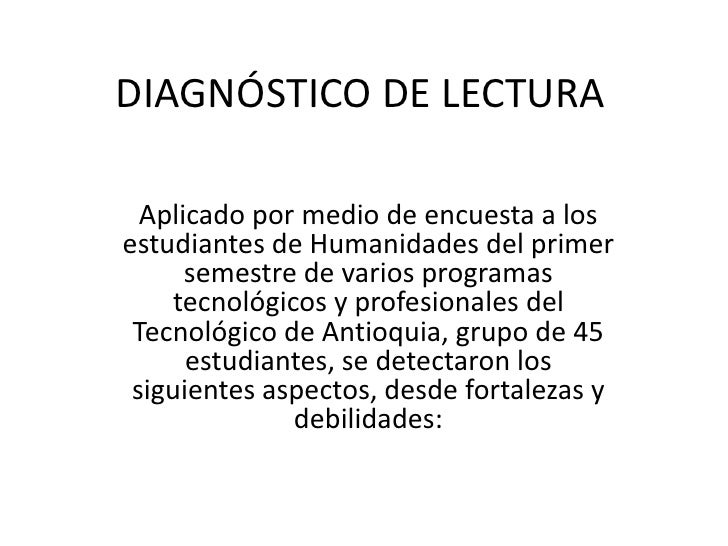 Habilidades De Lectura En Primer Grado En Alumnos De  : diagnstico de lectura diapositivas 1 728 from apexwallpapers.com size 728 x 546 jpeg 62kB