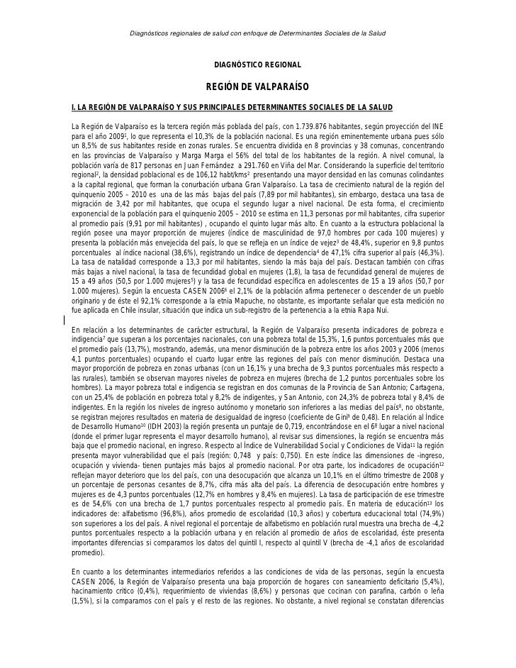 Diagnósticos regionales de salud con enfoque de Determinantes Sociales de la Salud                                        ...