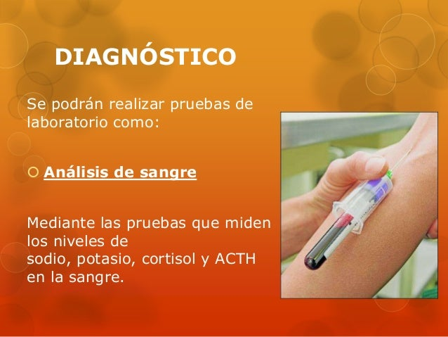 DIAGNÓSTICO Se podrán realizar pruebas de laboratorio como:  Análisis de sangre Mediante las pruebas que miden los nivele...