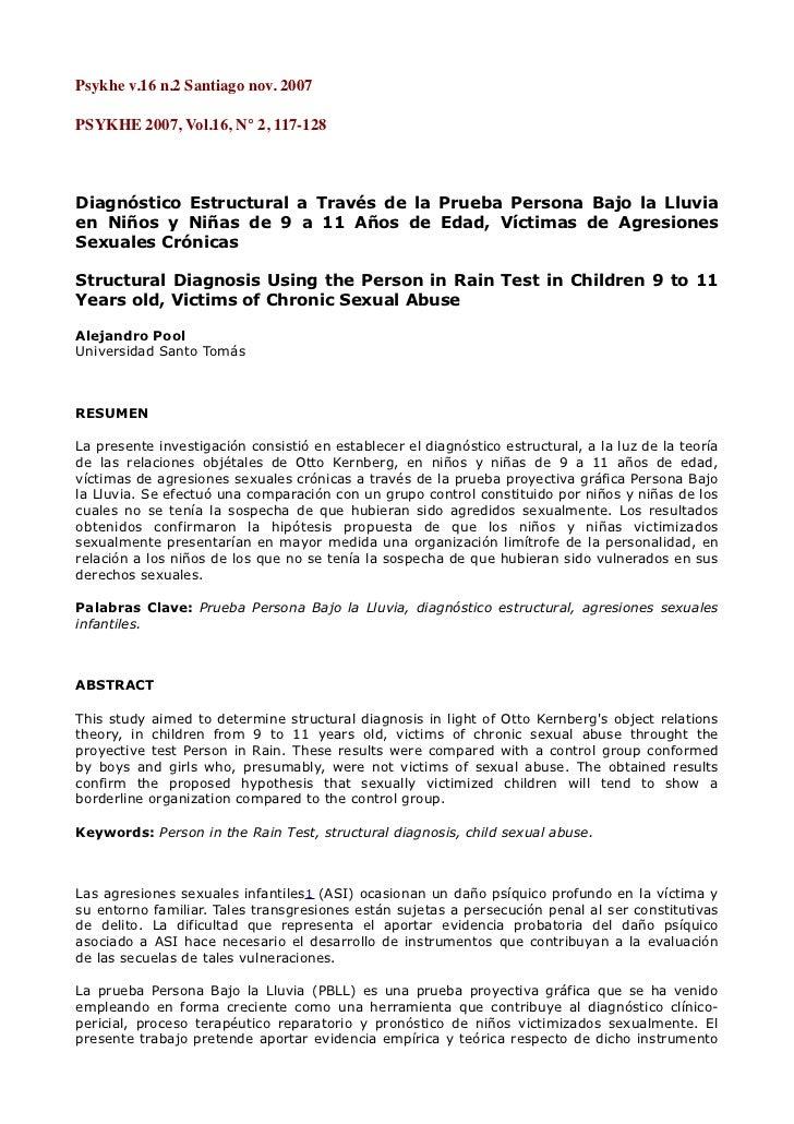 Psykhev.16n.2Santiagonov.2007PSYKHE 2007, Vol.16, N° 2, 117-128Diagnóstico Estructural a Través de la Prueba Persona ...