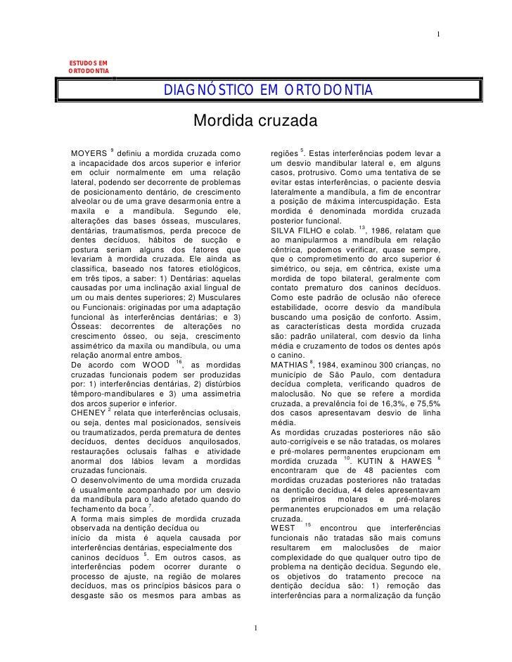 1   ESTUDOS EM ORTODONTIA                            DIAGNÓSTICO EM ORTODONTIA                                   Mordida c...