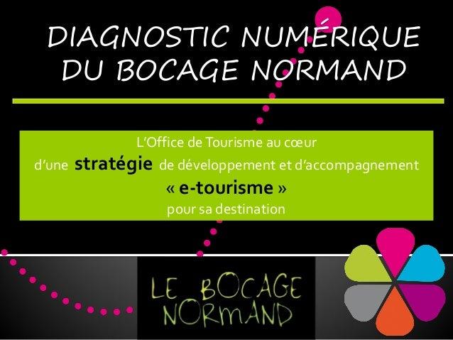 DIAGNOSTIC NUMÉRIQUE DU BOCAGE NORMAND L'Office de Tourisme au cœur  d'une  stratégie de développement et d'accompagnement...