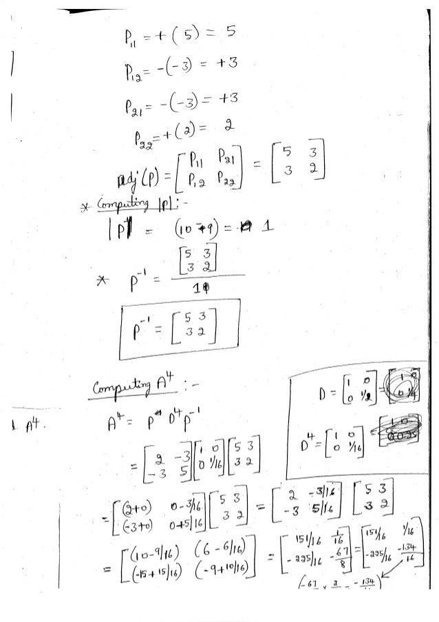 Diagonalization Linear Algebra Notes