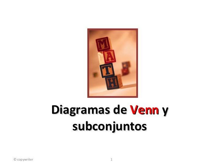 Diagramas de  Venn  y subconjuntos © copywriter