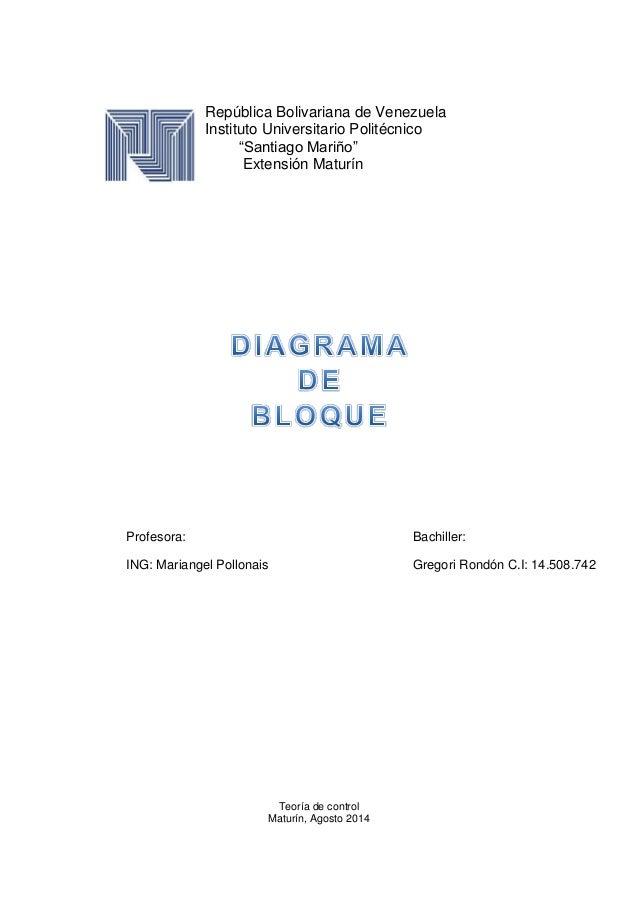 """República Bolivariana de Venezuela Instituto Universitario Politécnico """"Santiago Mariño"""" Extensión Maturín Teoría de contr..."""