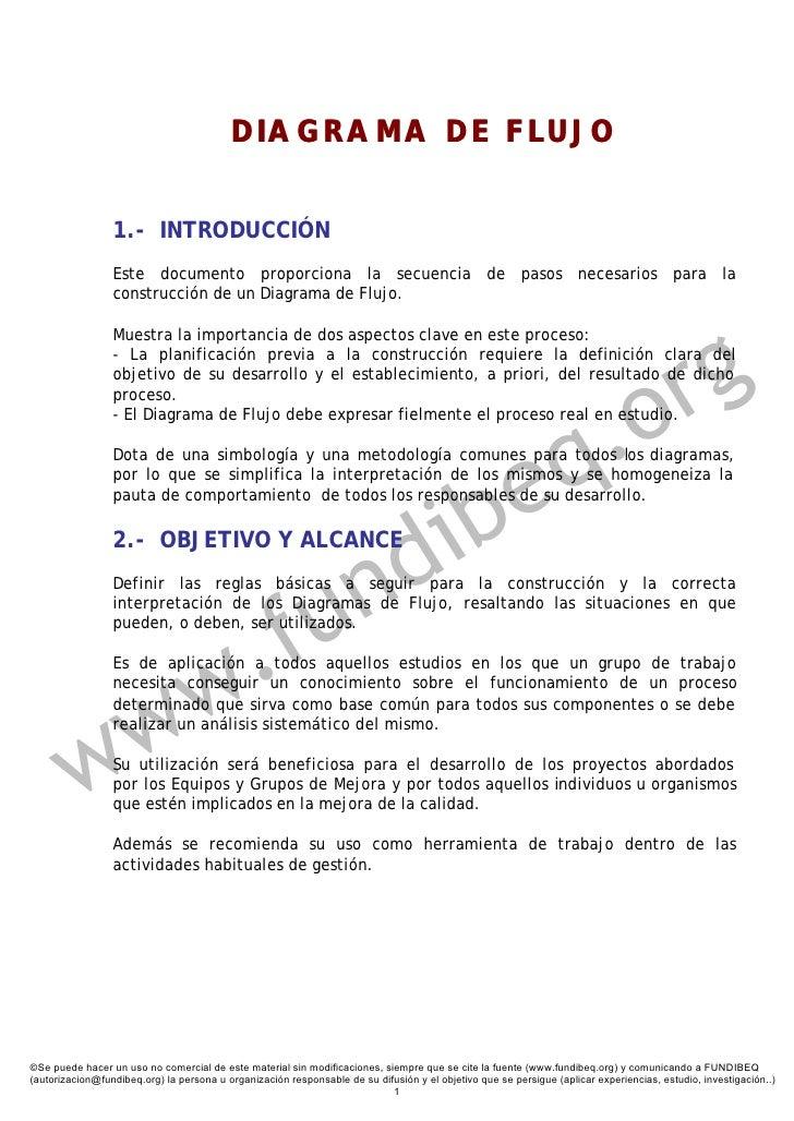 DIAGRAMA DE FLUJO                    1.- INTRODUCCIÓN                  Este documento proporciona la secuencia de pasos ne...
