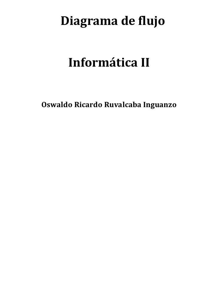 Diagrama de flujo<br />Informática II<br />Oswaldo Ricardo Ruvalcaba Inguanzo<br />Algoritmo Secuencial <b...