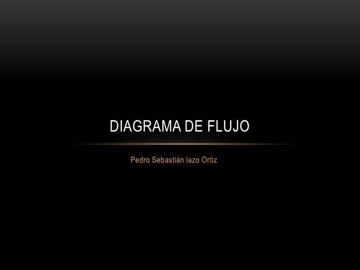 DIAGRAMA DE FLUJO  Pedro Sebastián lazo Ortiz