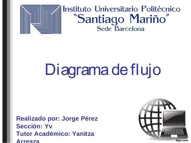 Diagramadeflujo Realizado por: Jorge Pérez Sección: Yv Tutor Académico: Yanitza