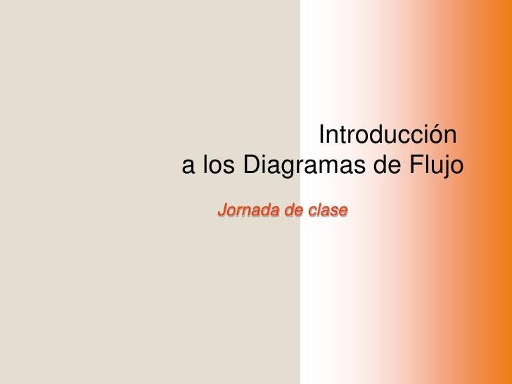 Introducción <br />a los Diagramas de Flujo<br />Jornada de clase<br />