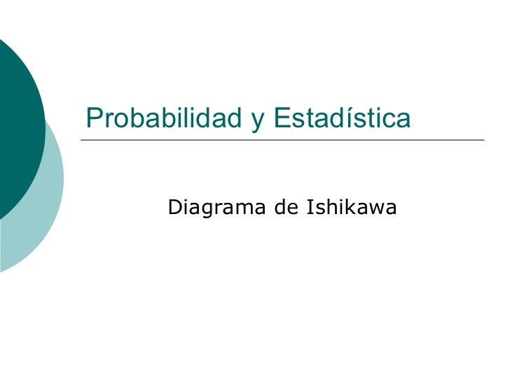 Probabilidad y Estadística Diagrama de Ishikawa