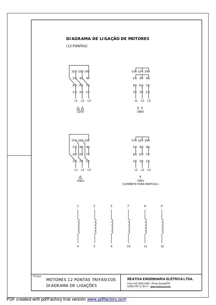 diagrama de motores 12 pontas