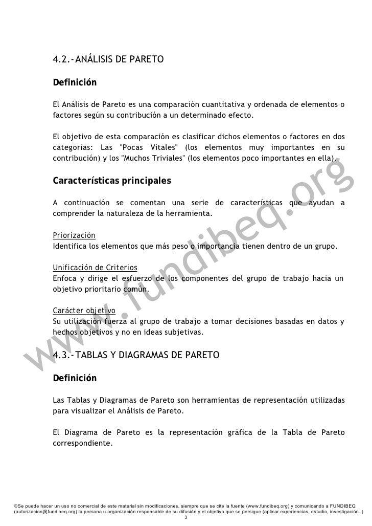 4.2.- ANÁLISIS DE PARETO                   Definición                   El Análisis de Pareto es una comparación cuantitat...