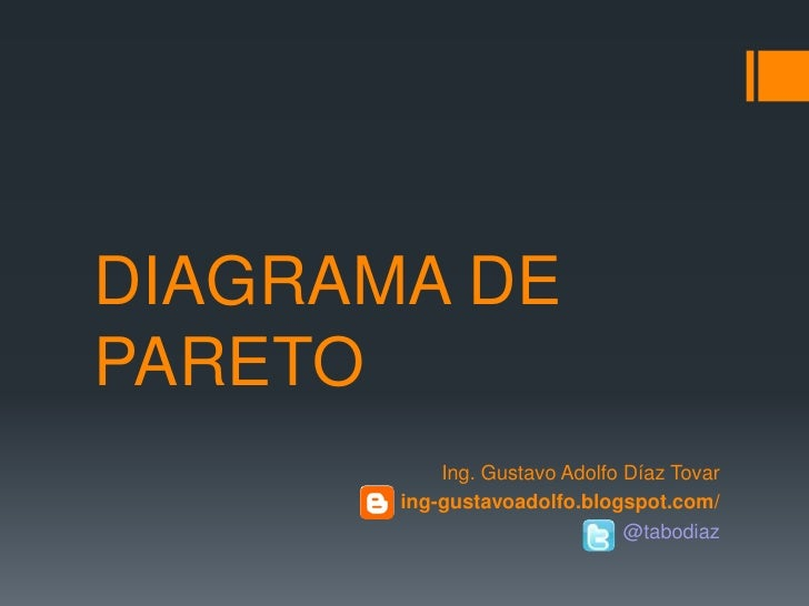 DIAGRAMA DEPARETO           Ing. Gustavo Adolfo Díaz Tovar       ing-gustavoadolfo.blogspot.com/                          ...