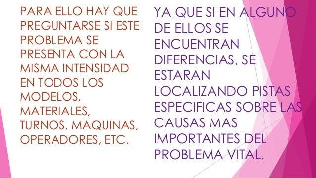 PARA ELLO HAY QUE  PREGUNTARSE SI ESTE  PROBLEMA SE  PRESENTA CON LA  MISMA INTENSIDAD  EN TODOS LOS  MODELOS,  MATERIALES...