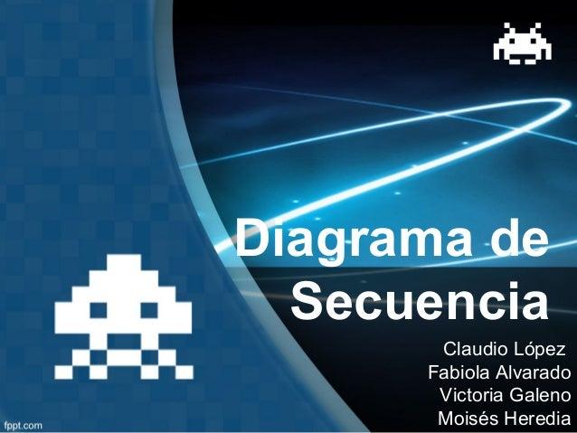 Diagrama de Secuencia Claudio López Fabiola Alvarado Victoria Galeno Moisés Heredia