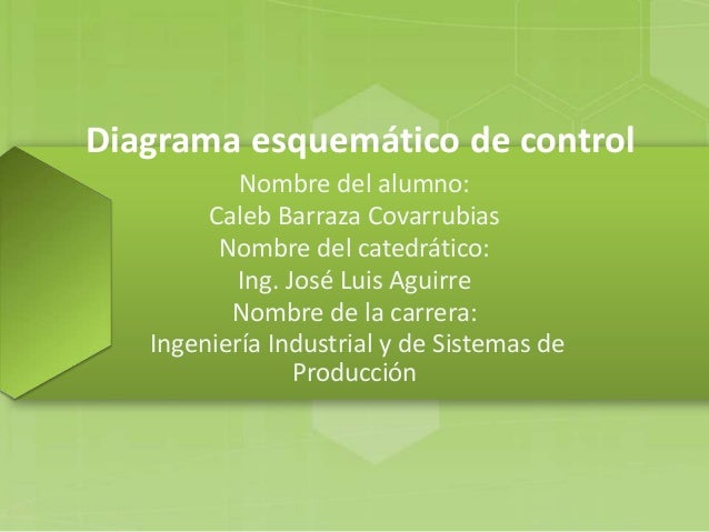 Diagrama esquemático de control Nombre del alumno: Caleb Barraza Covarrubias Nombre del catedrático: Ing. José Luis Aguirr...