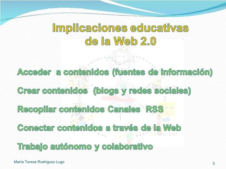 La web 2 en la educación Slide 3