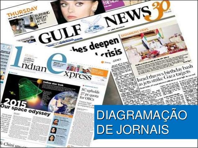 DIAGRAMAÇÃO DE JORNAIS