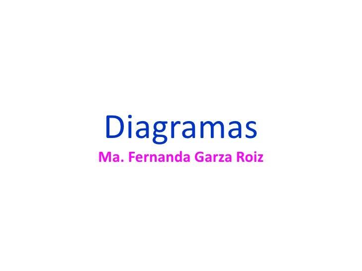 Diagramas<br />Ma. Fernanda Garza Roiz<br />